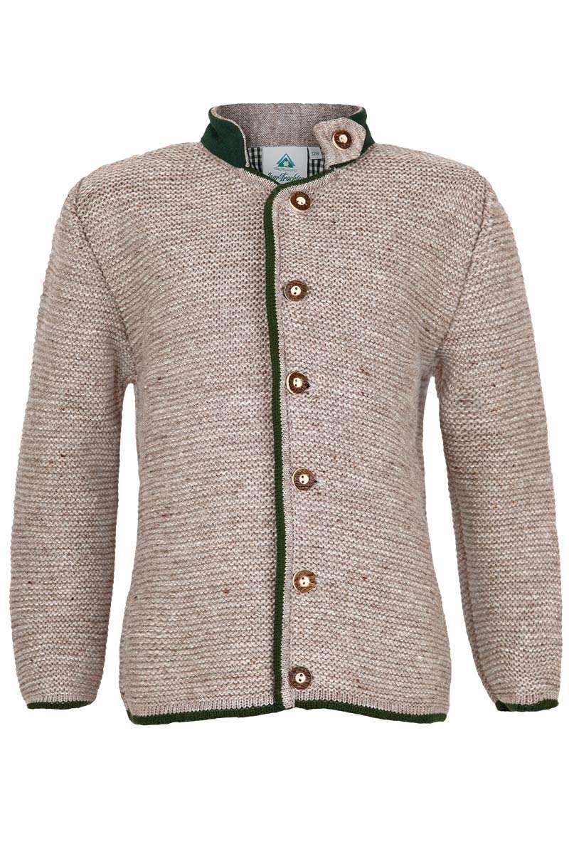 Kinder Strick Jacke berber braun grün | Jacken, Trachten