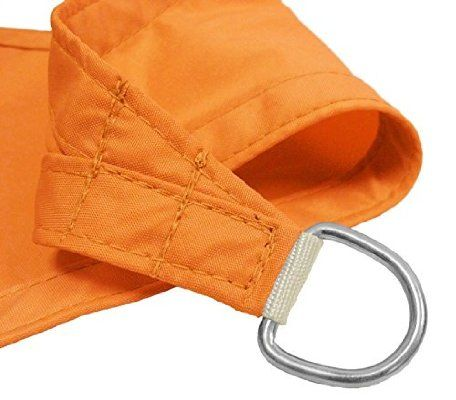 Windscreen4less 16'x16'x16' Waterproof Woven Sun Shade Sail Orange