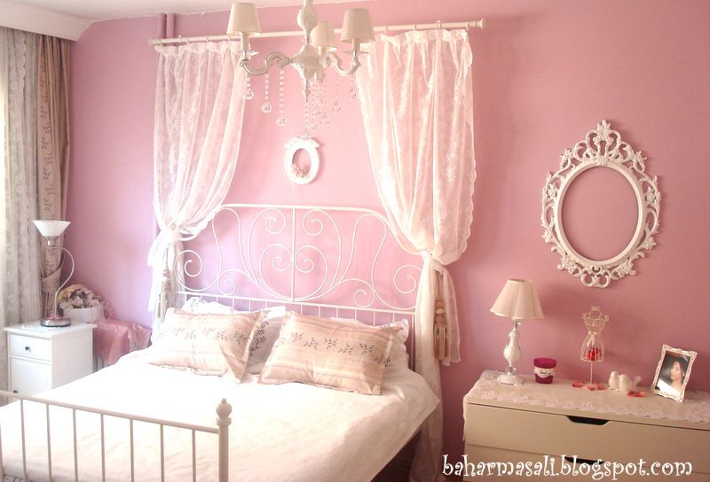 Wrought Iron Bed Pink Bedrooms Lace Bedroom Girl Room