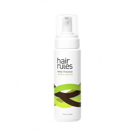 Hair Rules Wavy Mousse-for naturally wavy hair. controls frizz and defines waves