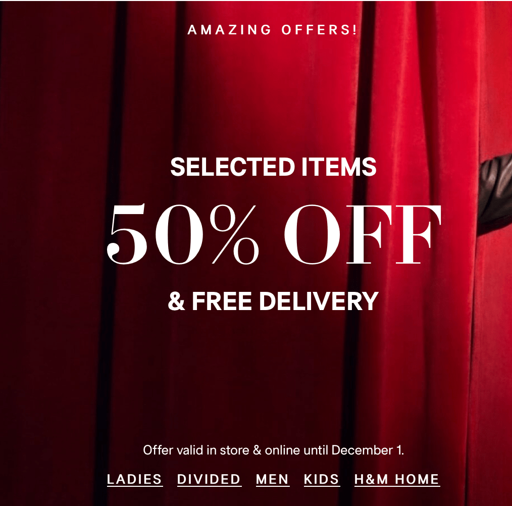 H M Has Begun Their Amazing 50 Off Sale Across Many Categories With Free Delivery Use The H M Promo Code Cba To Get An Addition Promo Codes Sale Promo Coding