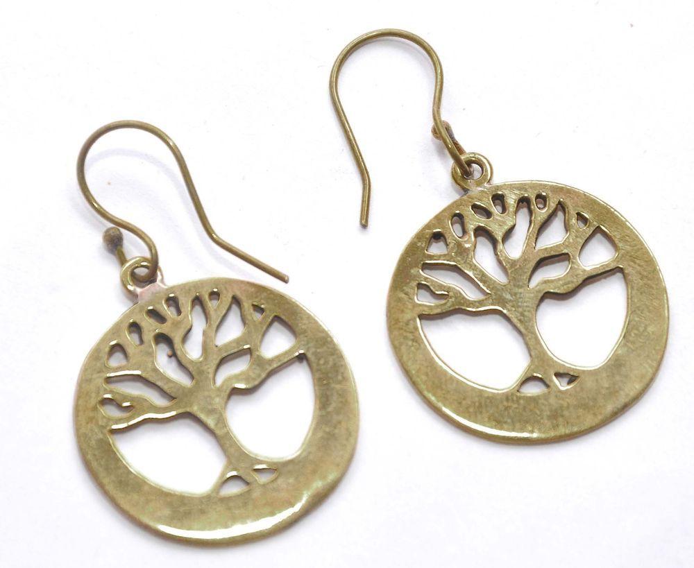 Belly piercing 2018  Best  Gold Plated brass tree shaped earring For Women Free