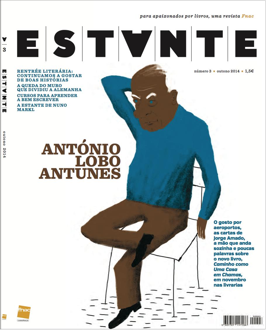 Revista Estante nº 3 - António Lobo Antunes. Ilustração de Afonso Cruz Edição de Adagietto - http://www.adagietto.pt #revistaestante #afonsocruz #revistas #magazines