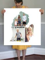 Love Location Michigan Custom Photo Art Print by Heather B   Minted