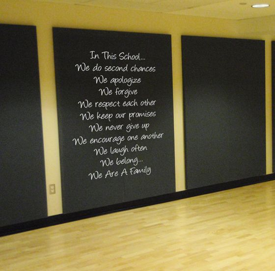 In This School Education Large Wall Decal Beautiful Awesome And - How to put up wall decal