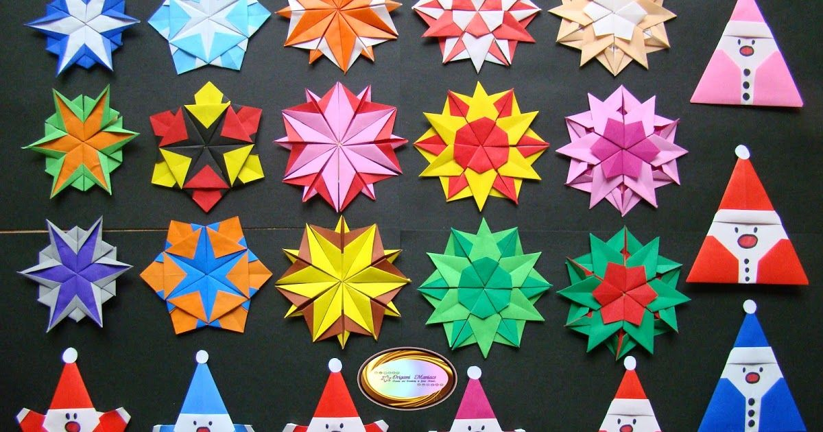 Origami Maniacs 5 Different Kinds Of Origami Snowflakes For