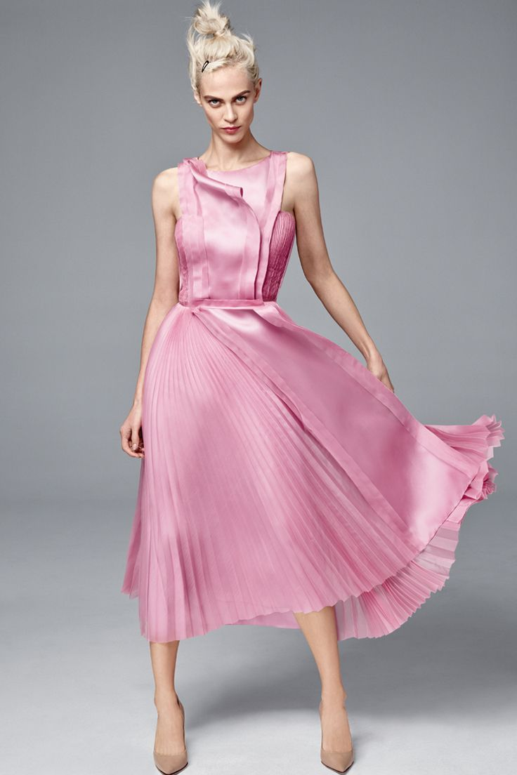Think pink with a swoosh of glamorous #CarolinaHerrera. #SaksStyle ...