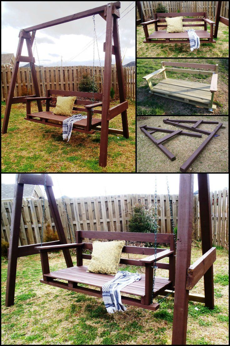 Learn How To Build Swing Seat For Your Backyard | Pinterest ...