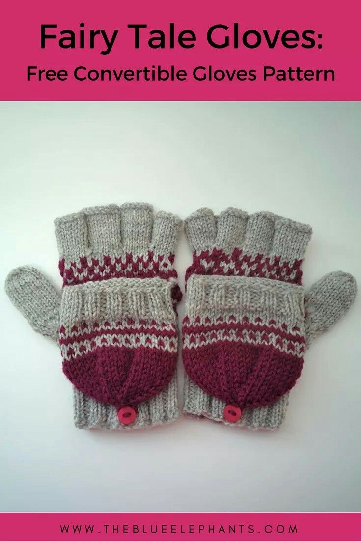Knitting pattern for these beautiful convertible gloves, available ...