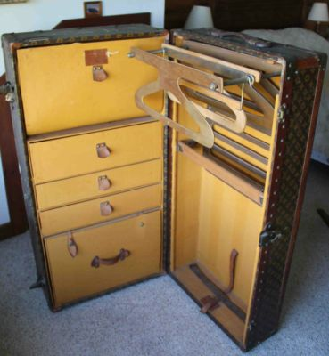 Louis Vuitton Wardrobe Steamer Trunk early 1900s