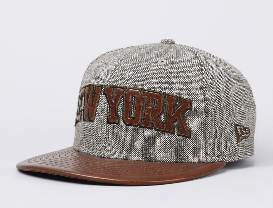 fitted leather baseball caps hat brown cap new york tweed era