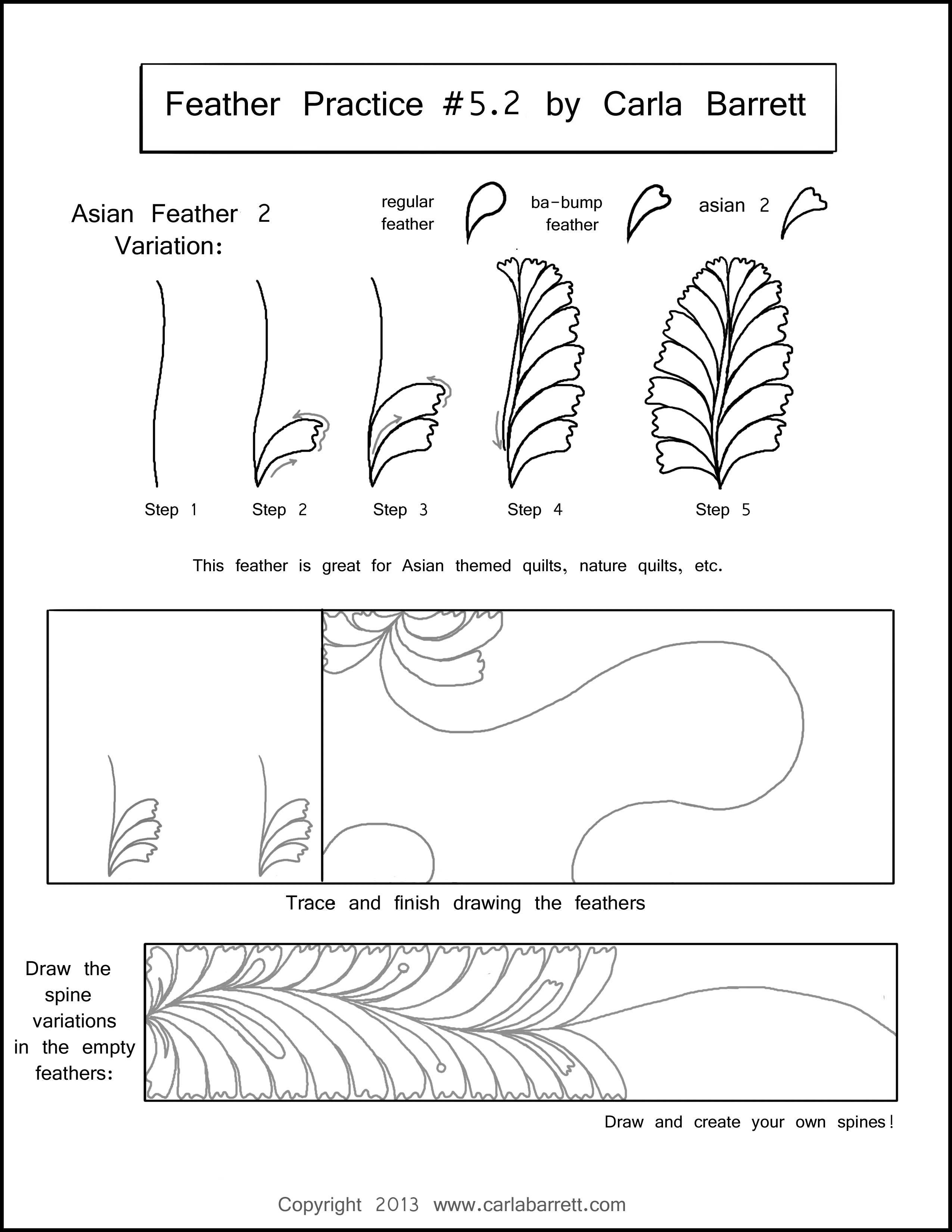 Feather Practice 5 2 By Carla Barrett