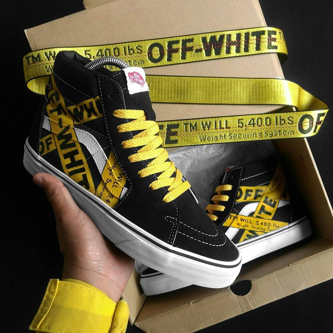 0eb7afb615 Off White Belt custom VANS Sk8-Hi