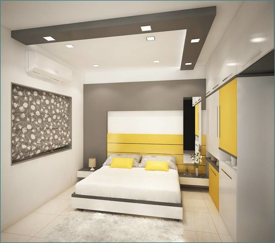 Whole Composition Of Bed Room Design With Different Forms