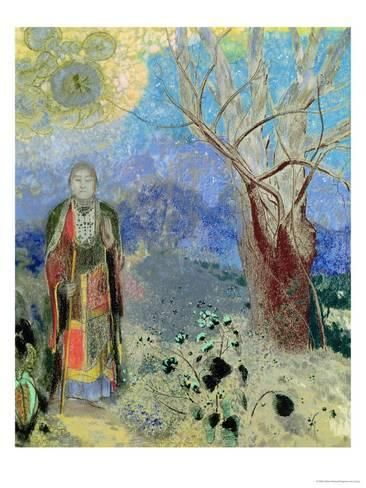 The Buddha    by Odilon Redon   Giclee Canvas Print Repro