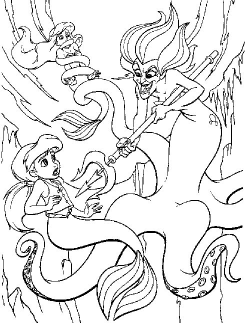 Little Mermaid 2 Coloring Pages - Tripafethna