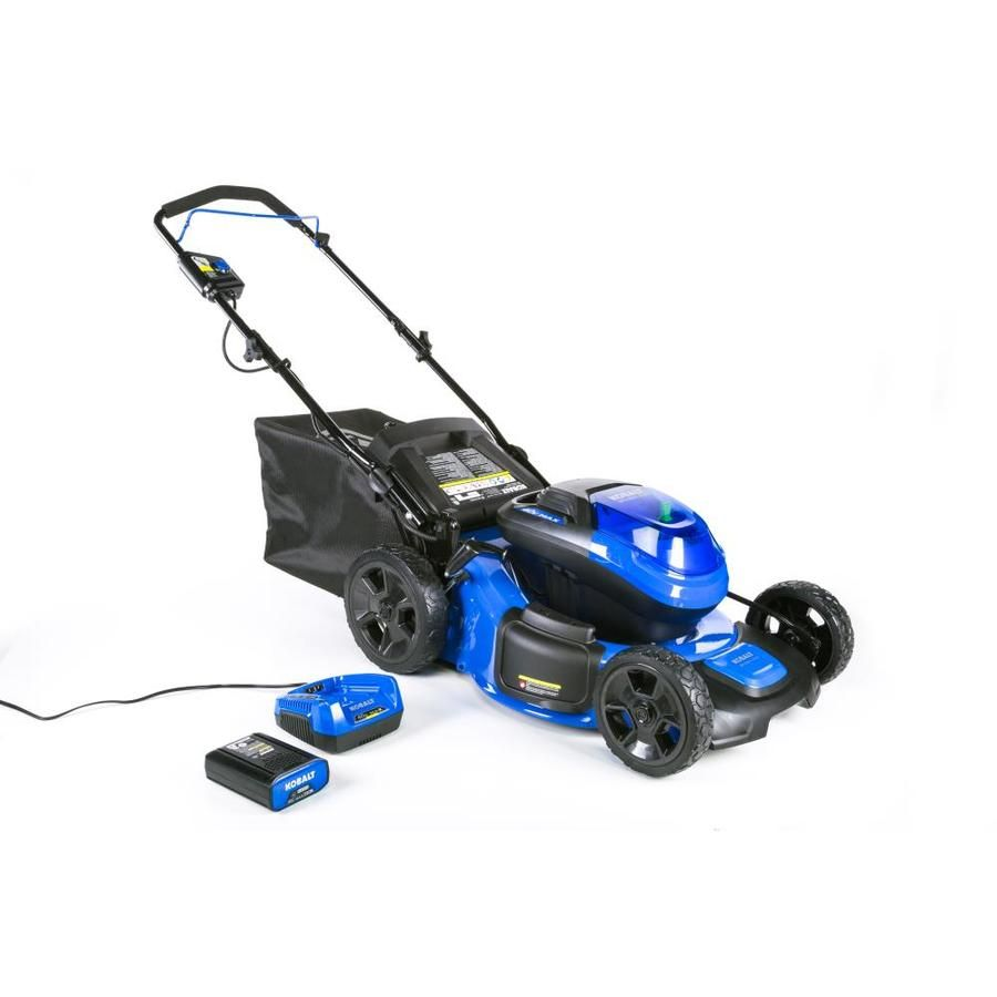 Kobalt 40 Volt Brushless Lithium Ion 20 In Cordless Electric Lawn Mower Battery Included Push Lawn Mower Lawn Mower Battery Lawn Mower