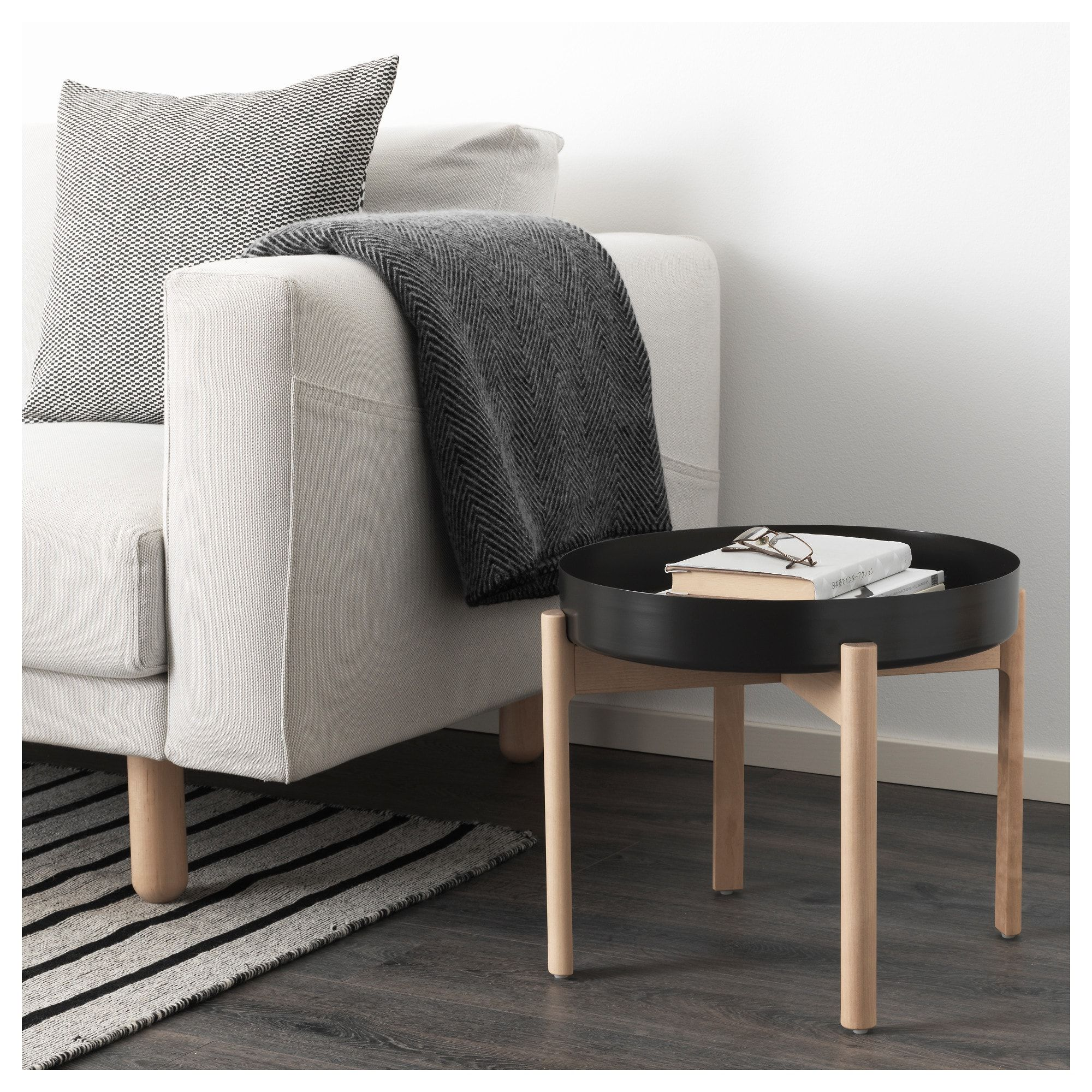 Sedie Ypperlig Ypperlig Coffee Table Dark Gray Birch Studio Apartments Ikea