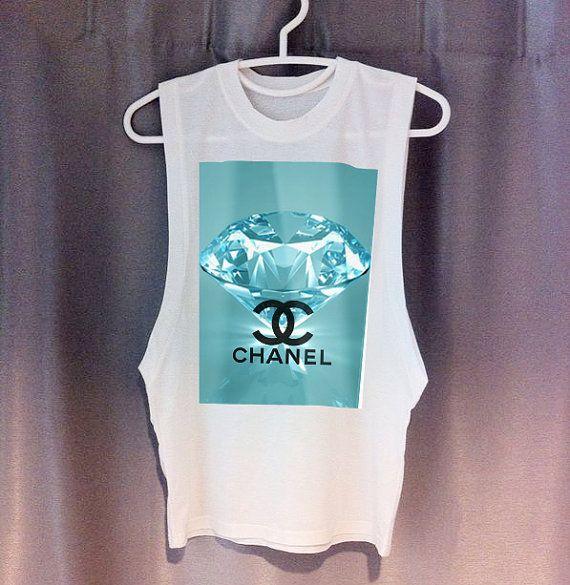 d197e64009 LIMITED CHANEL Diamond Cutoff Tee DIY dope swag hipster tumblr chloe fendi  prada