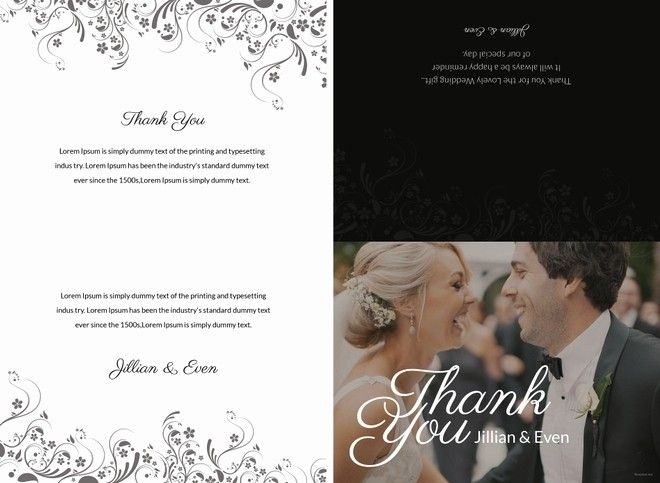 50 awesome thank you cards wedding template in 2020