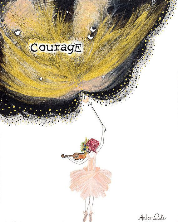 Lindsey Stirling Courage art Giclee print by BabyBottomButtons på Etsy 132kr +frakt <3