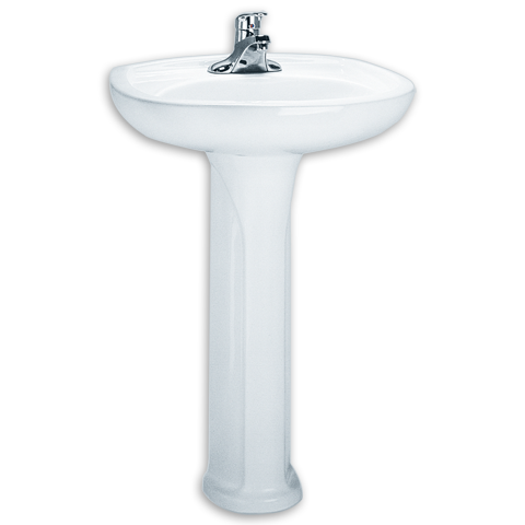 24 Inch Pedestal Sink Round, Flat Back,American Standard Colony