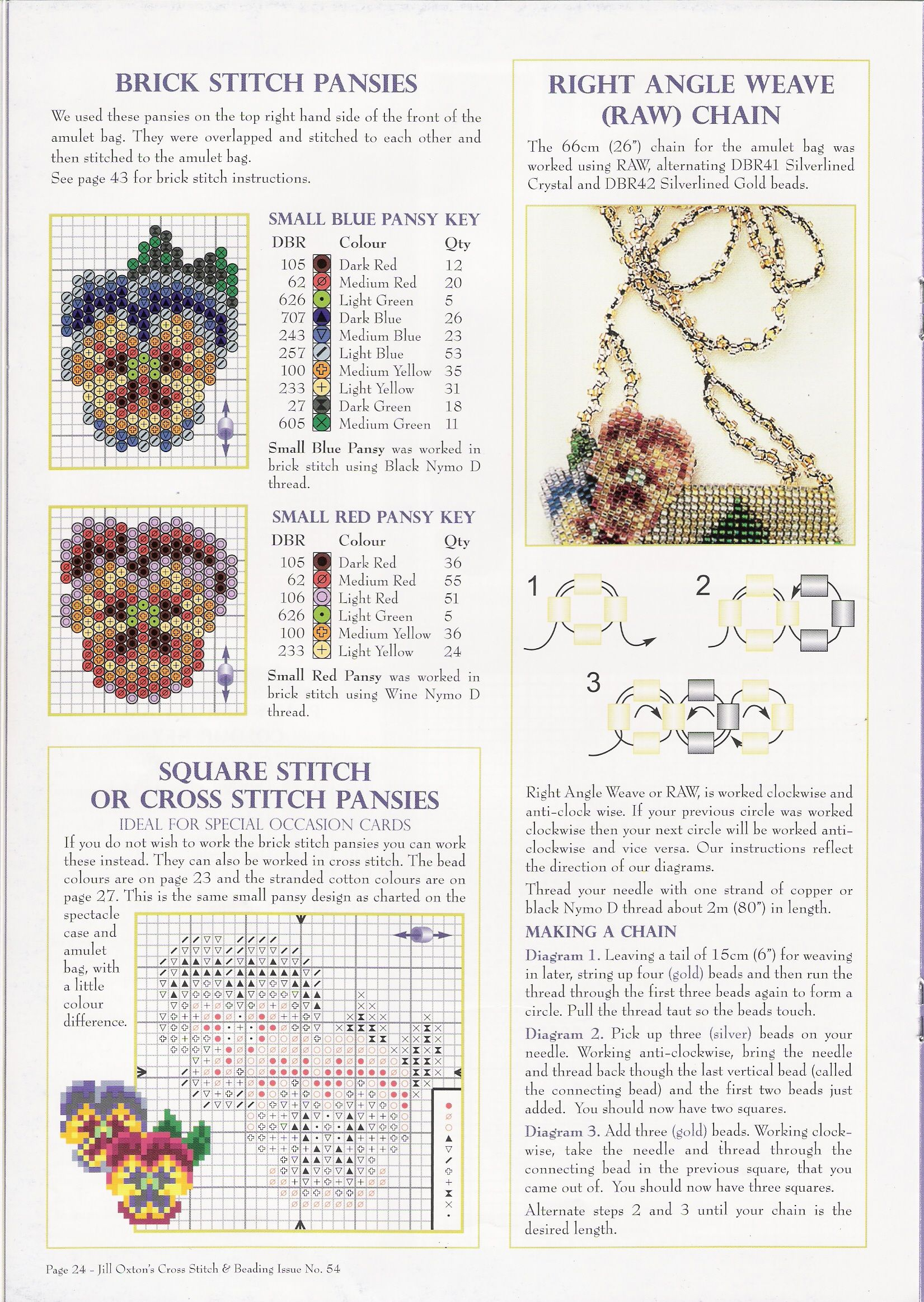 Jill Oxton's Cross Stitch & Beading Issue No. 54