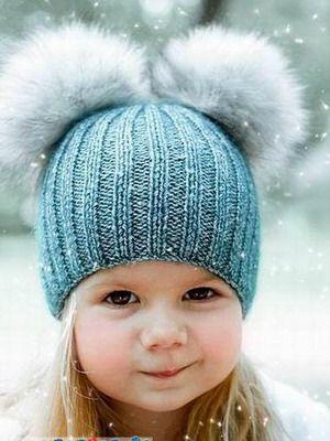 шапки зимние для малышей