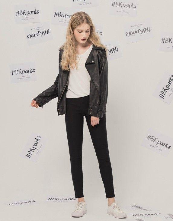 MIT#BK101經典顯瘦合身黑褲.女裝.PAZZO