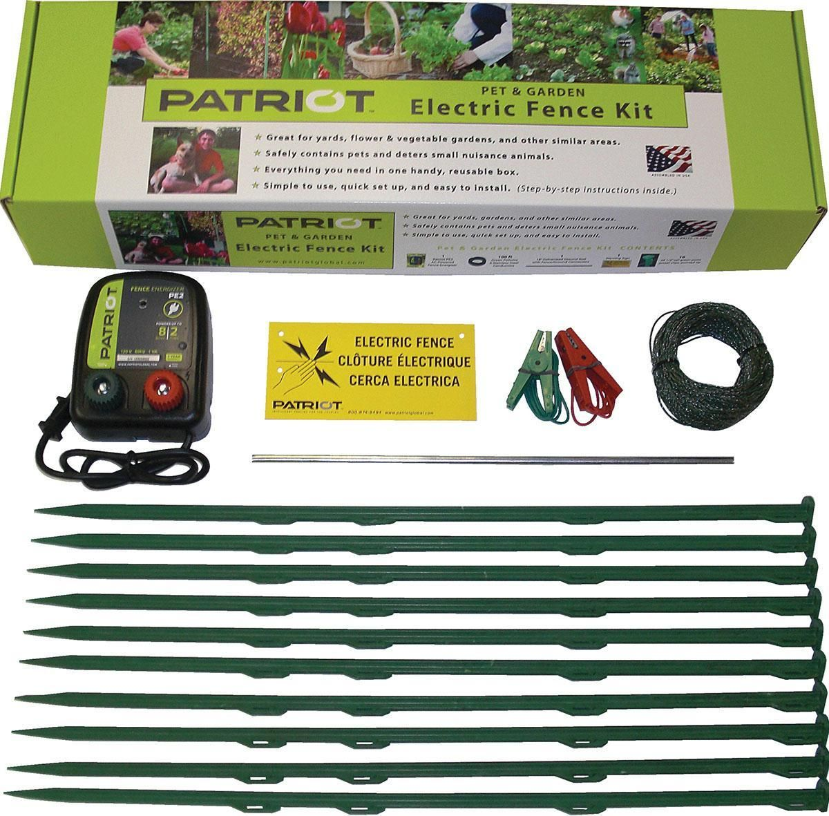 Patriot Pet Garden Electric Fence Kit Garden Kits Electric