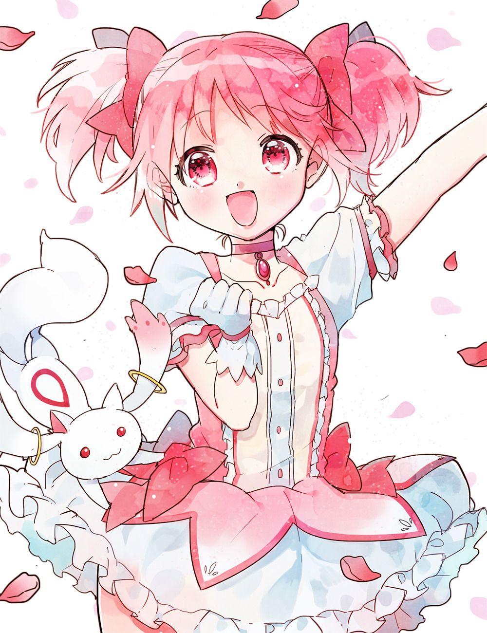 鹿目まどか 無題 まやのイラスト Kawaii Anime Magical Girl