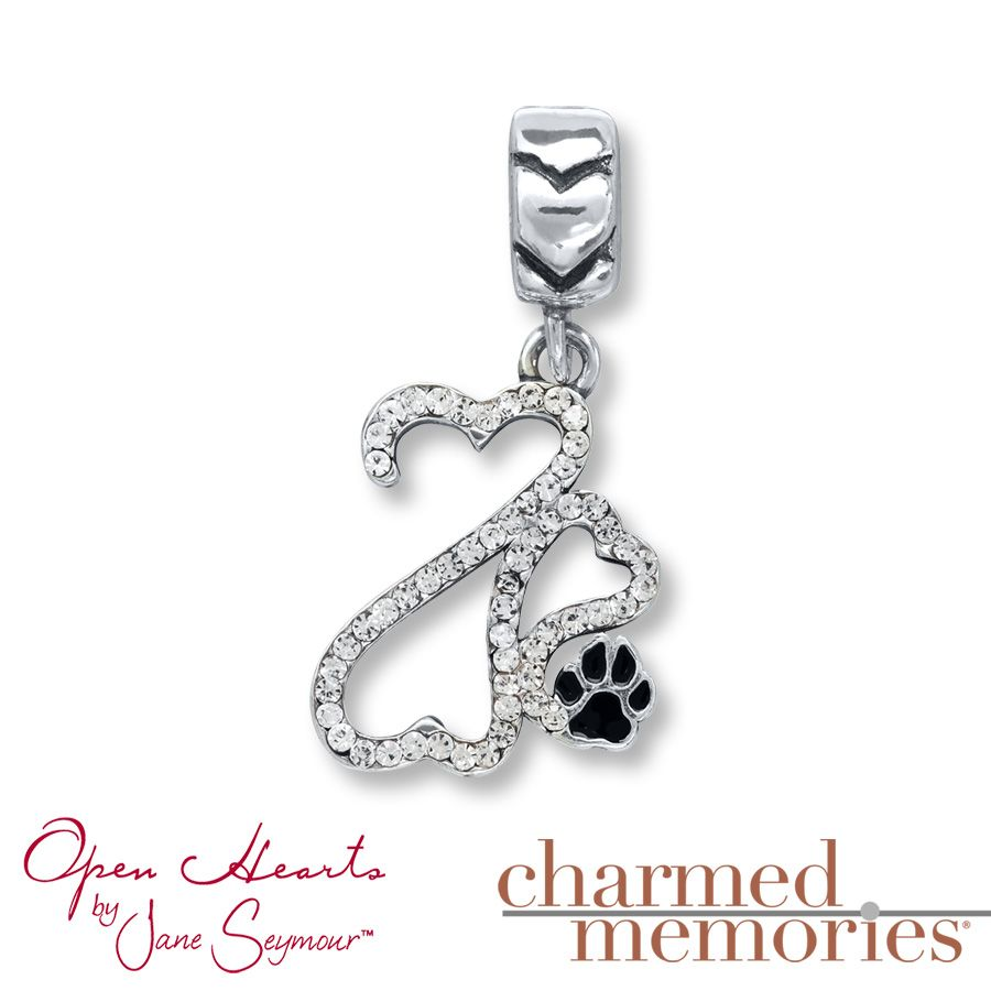 Charmed Memories Open Hearts Charm Sterling Silver 0sWuAv