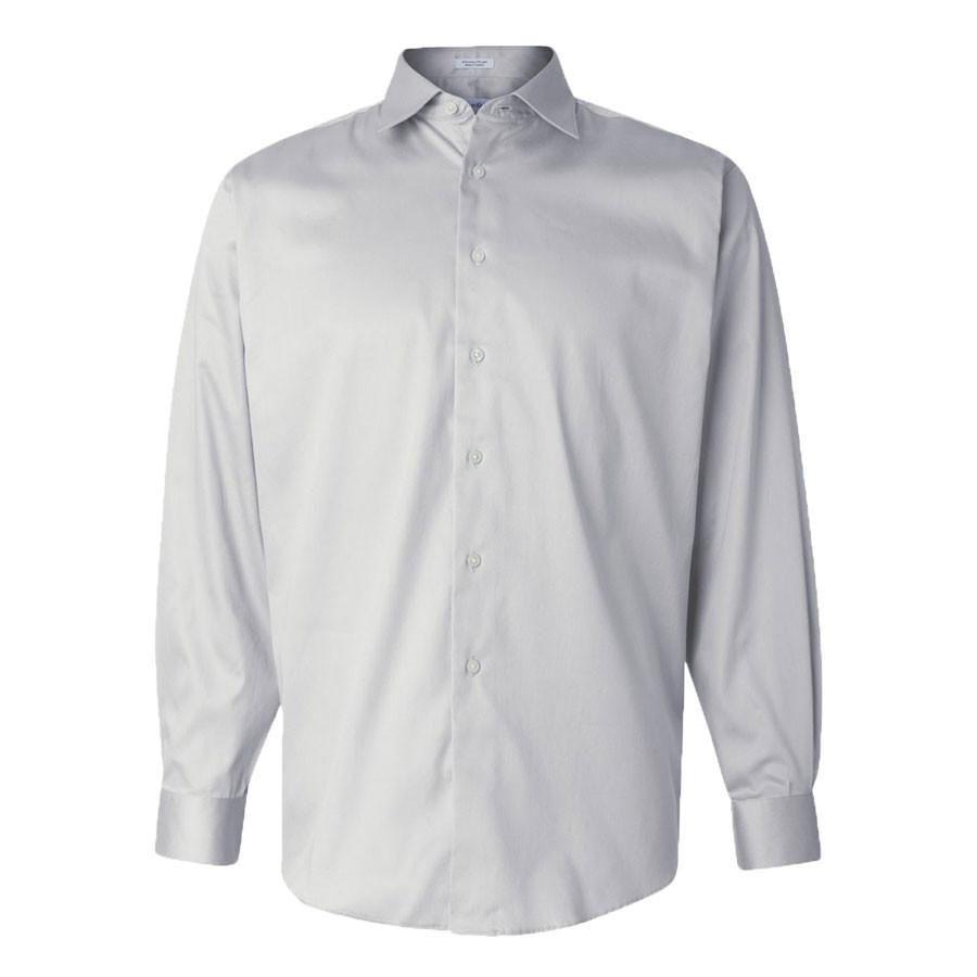 Calvin Klein Men's Ash Stretch Solid Dress Shirt | Long