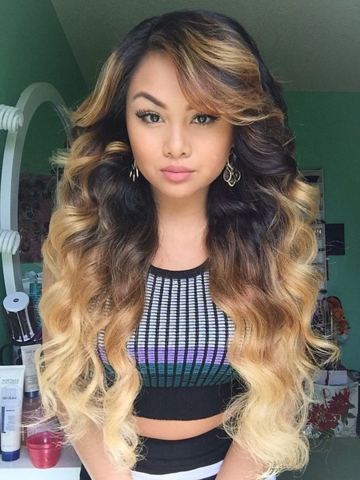 6a Ombre Hair Extensions Two Tone Color 1b 27 Body Wavy 100