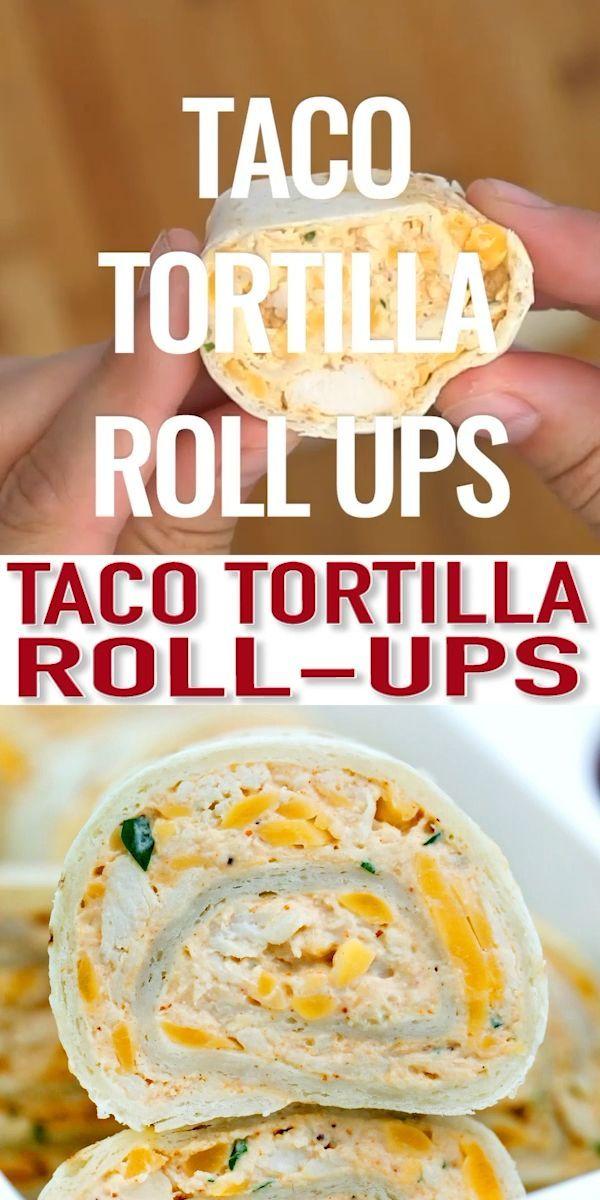 Tortilla Taco Roll Up Recipe  - 30minutesmeals.com #easychickentacos