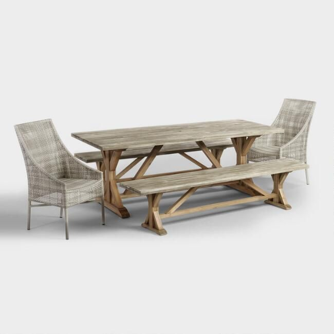 Our Outdoor Dining Collection Is Fit For A Sizeable Soiree It Features An Extra Long Dining Tabl Trestle Dining Tables Dark Wood Table Extra Long Dining Table