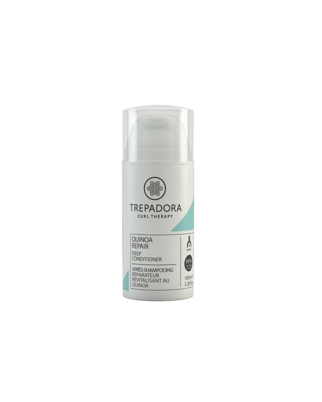Naturally Derived Hair Care, Trepadora Quinoa Repair Deep Conditioner 100ml