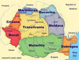 Romania Rumanien Landkarte Bukarest Und Serbien