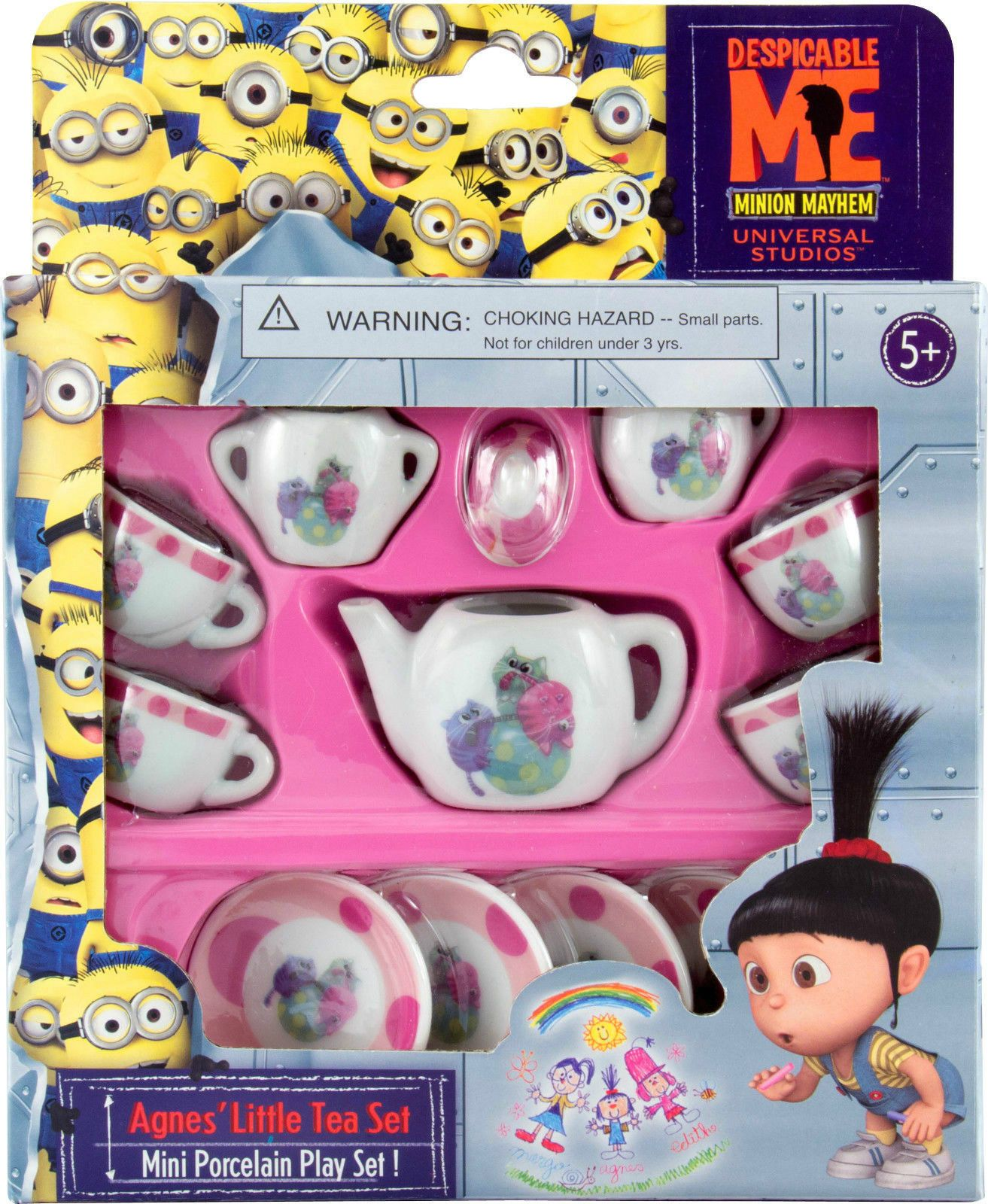 Despicable Me Agnes Little Tea Set Kittens Miniature Porcelain