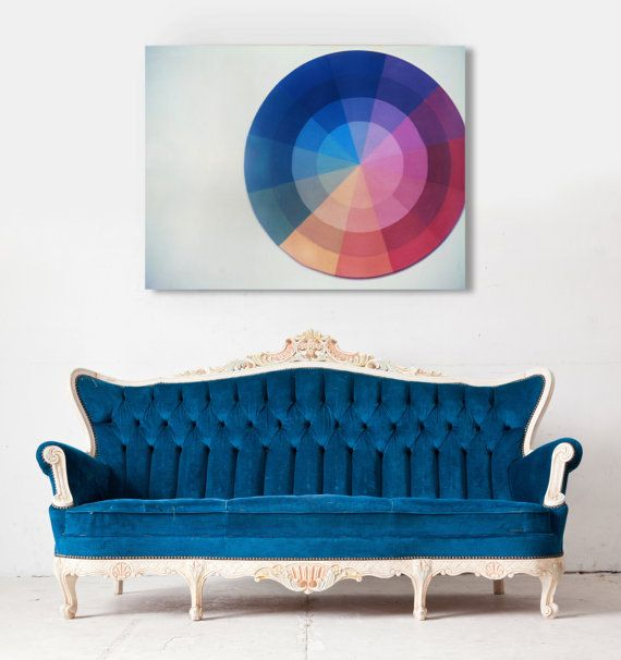 Color Wheel Polaroid Fine Art Canvas By The Light Fantastic Minimalist Colortheory