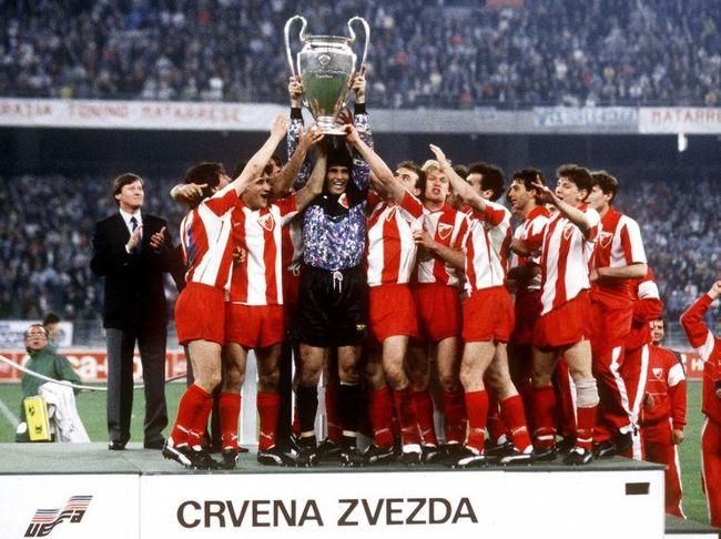 Coupe D Europe Des Clubs Champions 1991 Etoile Rouge De Belgrade Red Star Belgrade Uefa Champions League Football Casuals