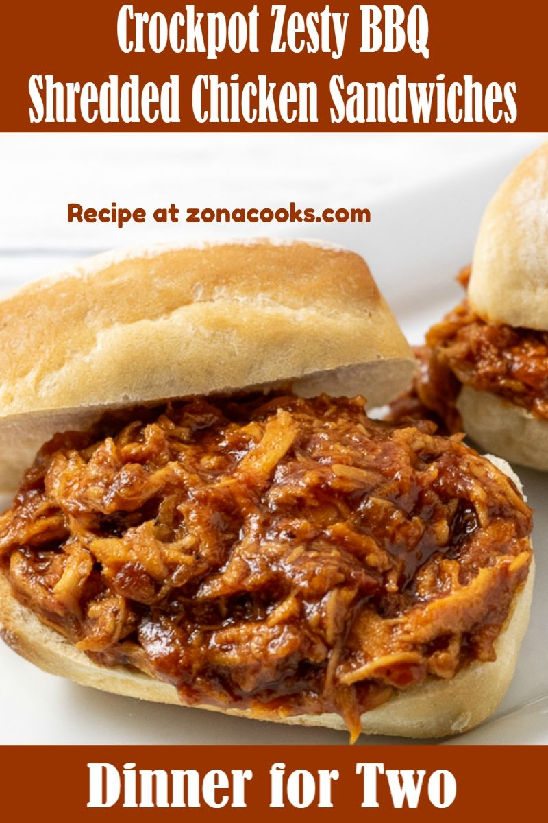Slow Cooker Zesty Barbecue Chicken | Barbecue chicken