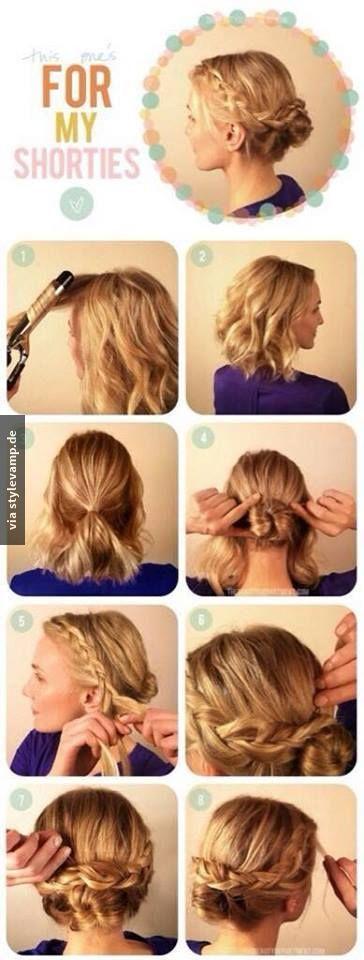 Schulterlange Haare Hochstecken Leicht Helle Haarfarbe 2019
