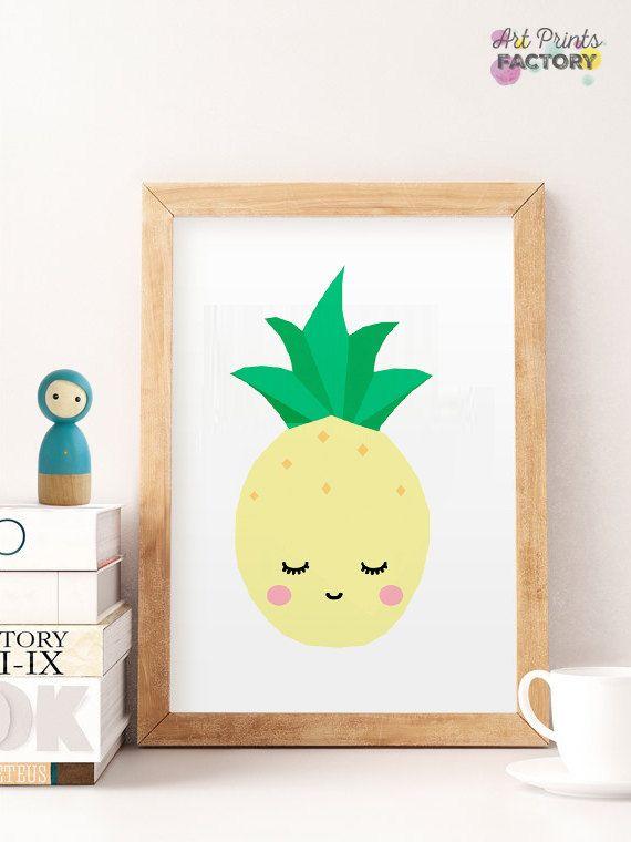 50% OFF SALE printable pineapple art sweet pineapple   Ali\'s nursery ...