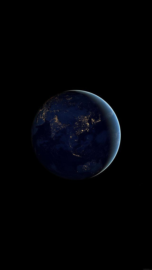 Asia At Night Earth Space Dark iPhone 8 wallpaper from ilikewallpaper.net