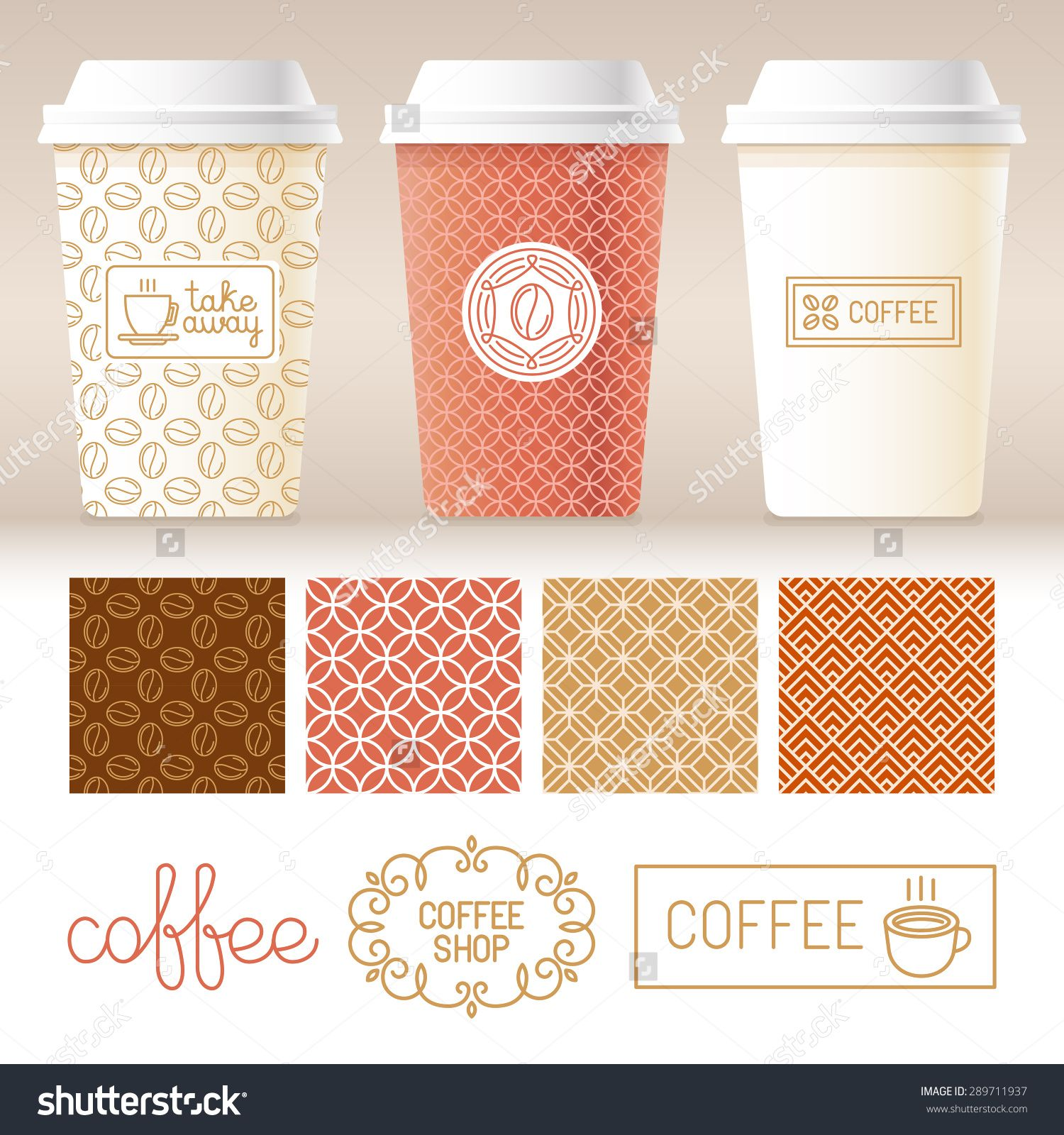Vector take away coffee packaging templates and design elements vector take away coffee packaging templates and design elements for coffee shops pronofoot35fo Gallery