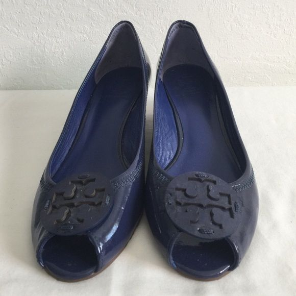Tory Burch Patent Leather Peep Toe Heels Very good condition, heels 2 inches. Tory Burch Shoes Heels
