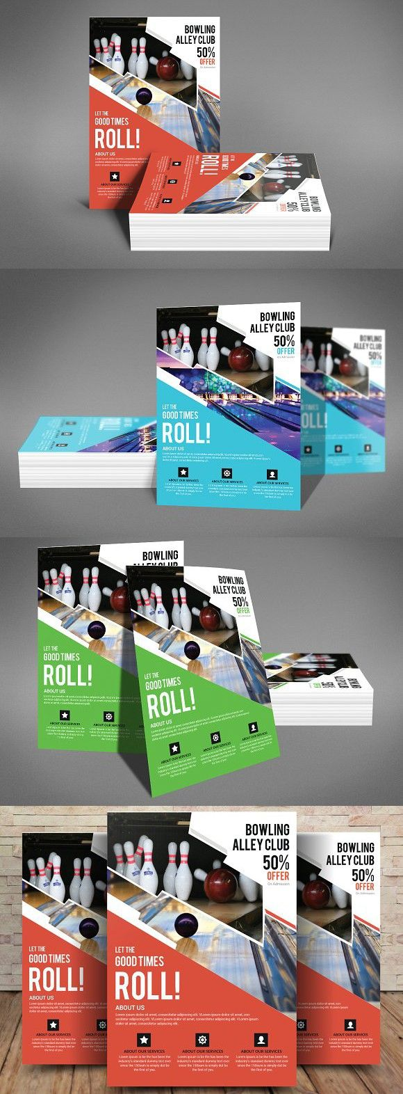 Bowling Flyer Template  Flyer Template Template And Brochures