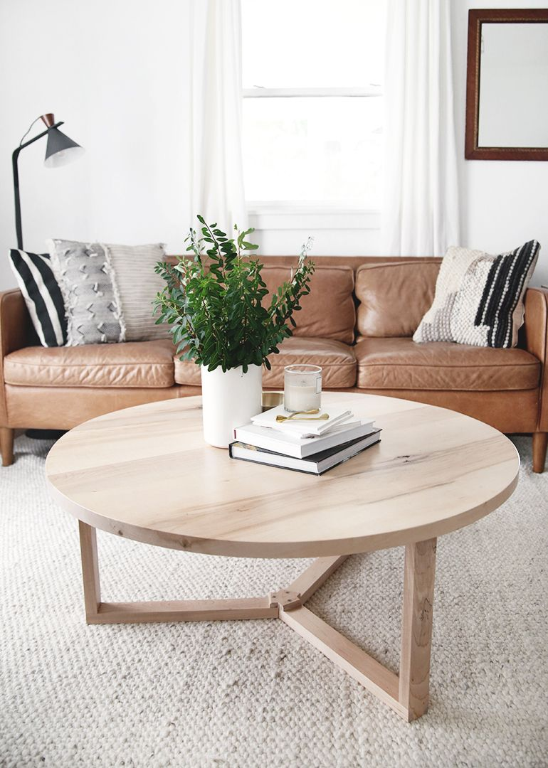 DIY Modern Round Coffee Table
