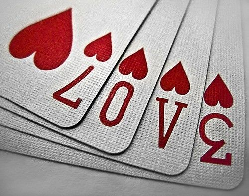 A gamble on love. | Love ❤ | Love cards, Love heart, I love heart